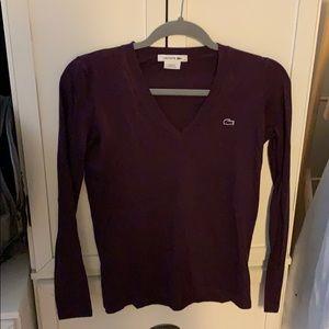 Lacoste Purple Long Sleeve Shirt